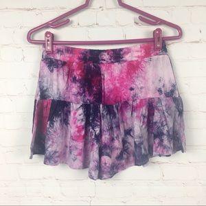 Tie Dye Printed Shorts | Small